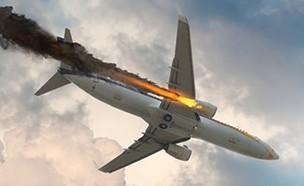 מטוס מתרסק (צילום: By Dafna A.meron, shutterstock)