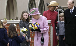 המשפחה המלכותית בטקס חג הפסחא (צילום: Sang Tan - WPA Pool, Getty Images)