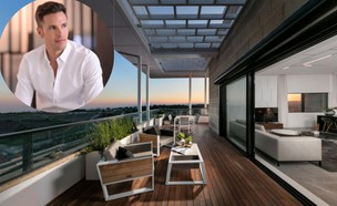 ינאי פרישר גוטמן בפנטהאוז בעיצוב ארז חייט (צילום: דירה: אלעד גונן, צילום ינאי: ליאור בן שבת)