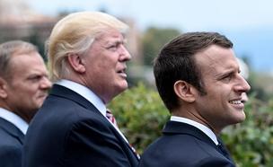 טראמפ ומקרון בימים טובים יותר (צילום: רויטרס)