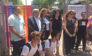 צפו: ראש העיר ביקר בתיכון (צילום: החדשות)