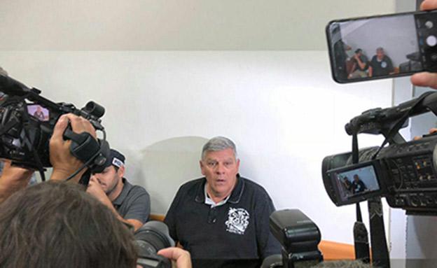 גנדלמן בהארכת המעצר, היום (צילום: החדשות)