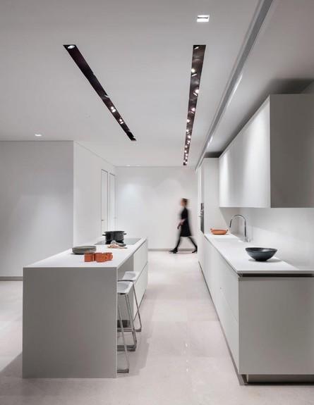 שחור לבן, מטבח, עיצוב מיכל האן (צילום:  עמית גירון)
