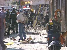 זירת ניסיון הרצח של זאב רוזנשטיין (צילום: חדשות 2)