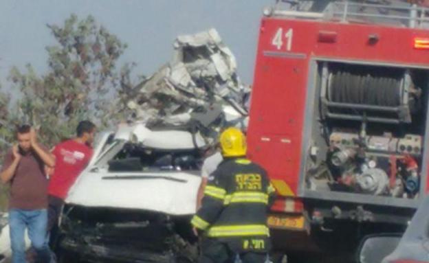 זירת התאונה הקשה בשנה שעברה