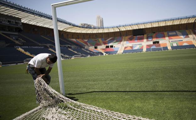 """אצטדיון טדי יישאר ריק במוצ""""ש. ארכיון (צילום: פלאש 90 - יהונתן סינדל)"""