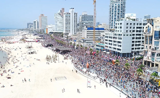 מצעד הגאווה, תל אביב (צילום: חדשות 2)
