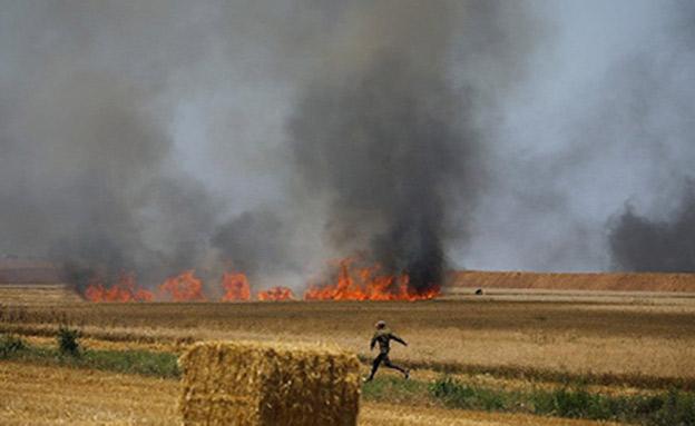 טרור השריפות נמשך (צילום: כבאות מחוז דרום)