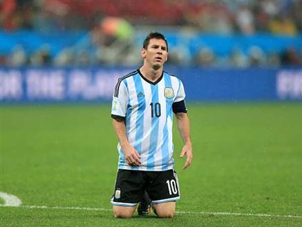 מסי במדי ארגנטינה במונדיאל 2014 (getty)