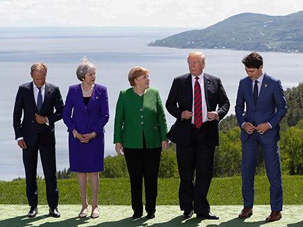 טראמפ בועידת ה-G7 (צילום: רויטרס, חדשות)