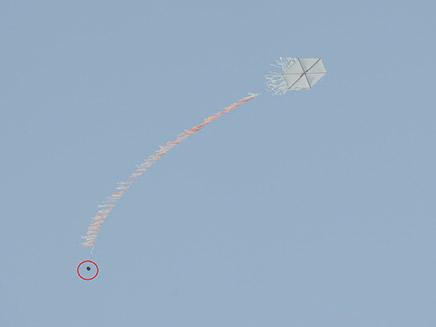 """עפיפון תבערה (צילום: דובר צה""""ל, חדשות)"""