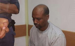 החשוד בבית המשפט, היום (צילום: החדשות)
