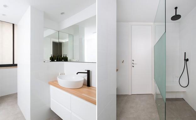 משפחת עזר, עיצוב אלברט אסקולה, חדר רחצה (19) (צילום: שירן כרמל)