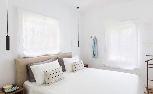 משפחת עזר, עיצוב אלברט אסקולה, חדר שינה (11) (צילום: שירן כרמל)