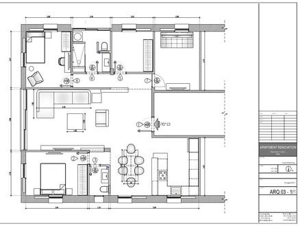 משפחת עזר, תוכנית אדריכלית, שרטוט אלברט אסקולה