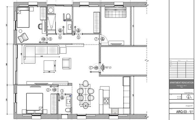 משפחת עזר, תוכנית אדריכלית, שרטוט אלברט אסקולה (שרטוט: אלברט אסקולה)