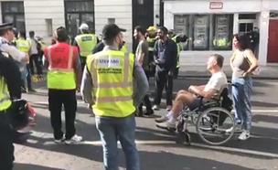 יוזמת היחידה שעיכבה הפגנה נגד ישראל   צפו (צילום: חדשות)