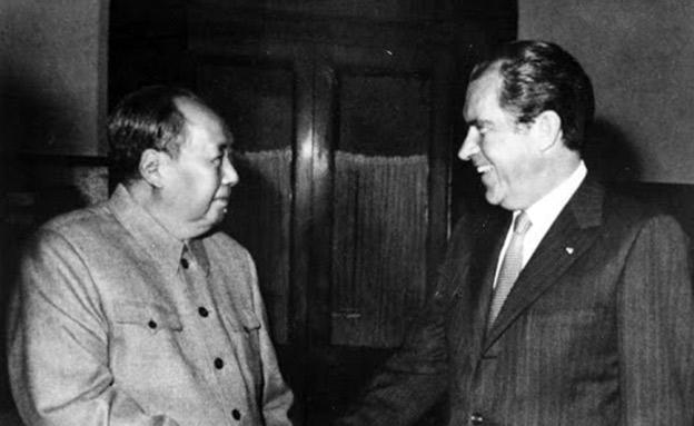 ההשוואה מתבקשת. ניקסון ומאו בסין (צילום: ויקיפדיה, חדשות)