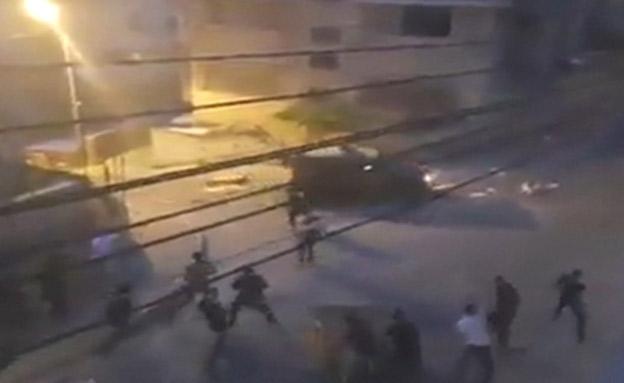 תקיפת החיילים ברמאללה (צילום: חדשות)