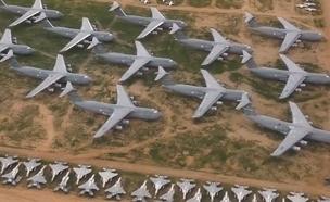 בית קברות למטוסי קרב. צפו (צילום: חדשות)