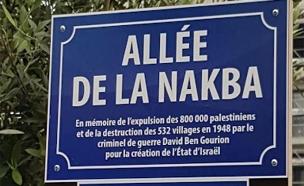 """""""שדרות הנכבה"""" בצרפת (צילום: חדשות)"""