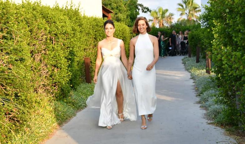 נסלי ברדה ואירית מגל מתחתנות (צילום: אביב חופי)