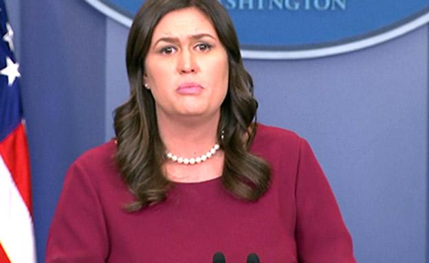 דוברת הבית הלבן שרה סנדרס (צילום: חדשות)