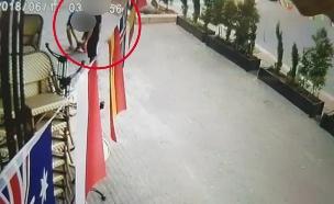 תיעוד ממצלמות האבטחה של המקום (צילום: חדשות)