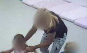 """האלימות בגן בגבעתיים: הגננת התנצלה (צילום: מתוך """"חדשות הבוקר"""" , קשת 12)"""