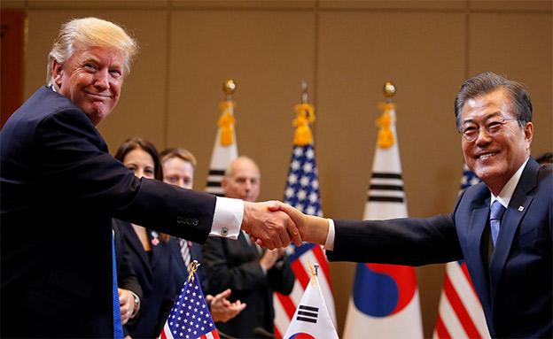 לא עניין של צפ' קוריאה, שני הנשיאים (ארכיון) (צילום: רויטרס, חדשות)