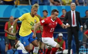 שוויץ מנעה מברזיל ניצחון (צילום: רויטרס, חדשות)
