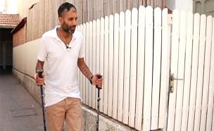 ניב נחמיה נפצע בפיגוע בסופר ביבנה (צילום: החדשות)