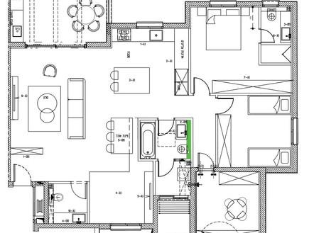 דירה בבאר שבע, עיצוב כרמית גת, העמדה חדשה