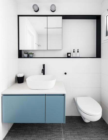 דירה בבאר שבע, ג, עיצוב כרמית גת, חדר רחצה - 19 (צילום: איתי בנית)