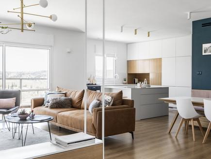 דירה בבאר שבע, עיצוב כרמית גת, סלון - 5 (צילום: איתי בנית)