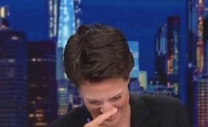 צפו: מגישה פרצה בבכי בשידור (צילום: טוויטר, חדשות)