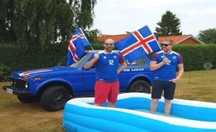 מאיסלנד לרוסיה, ברכב - למען הנבחרת. צפו (צילום: רויטרס, חדשות)