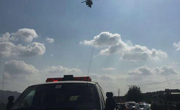 """הפצועים פונו באמצעות מסוק (צילום: מד""""א, חדשות)"""