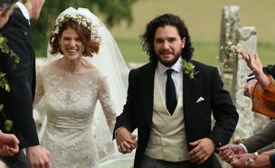 החתונה של קית הרינגטון ורוז לזלי (צילום: Splash News, Splashnews)