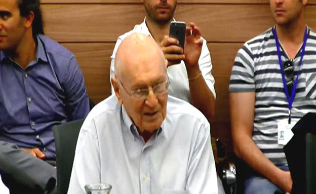 יצחק זמיר בדיון, היום (צילום: החדשות)