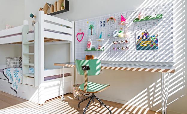 דירה בנורדאו, עיצוב מיכל גלברט דורון, חדר ילדים -13 (צילום: שירן כרמל)