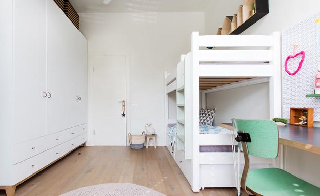 דירה בנורדאו, עיצוב מיכל גלברט דורון, חדר ילדים - 16 (צילום: שירן כרמל)