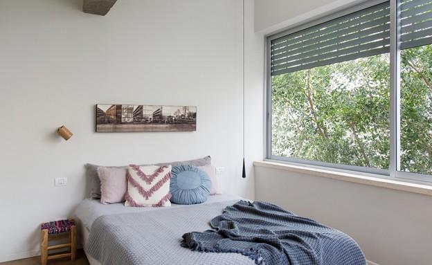 דירה בנורדאו, עיצוב מיכל גלברט דורון, חדר שינה - 22 (צילום: שירן כרמל)