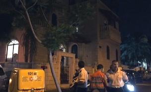 זירת חשד לרצח בתל אביב (צילום: חדשות)