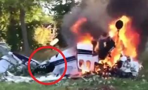 התרסקות מטוס (צילום: Youtube/CityNews Toronto)