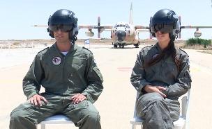 צפו בבני הדודים שסיימו קורס טיס (צילום: החדשות)