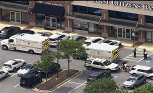 """אירוע ירי במערכת עיתון במרילנד, ארה""""ב (צילום: CNN, חדשות)"""