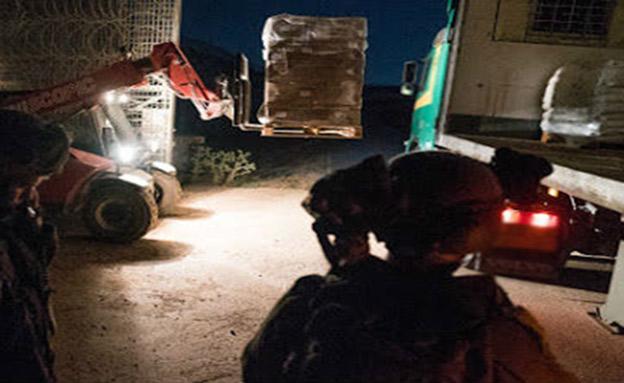 """עשרות טונות של סיוע לסוריה (צילום: דו""""צ, חדשות)"""