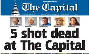 שער העיתון בים לאחר הירי (צילום: cnn, חדשות)