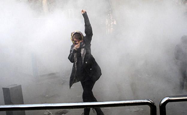 מחאות נגד המשטר באירן. ארכיון (צילום: Sky News, חדשות)